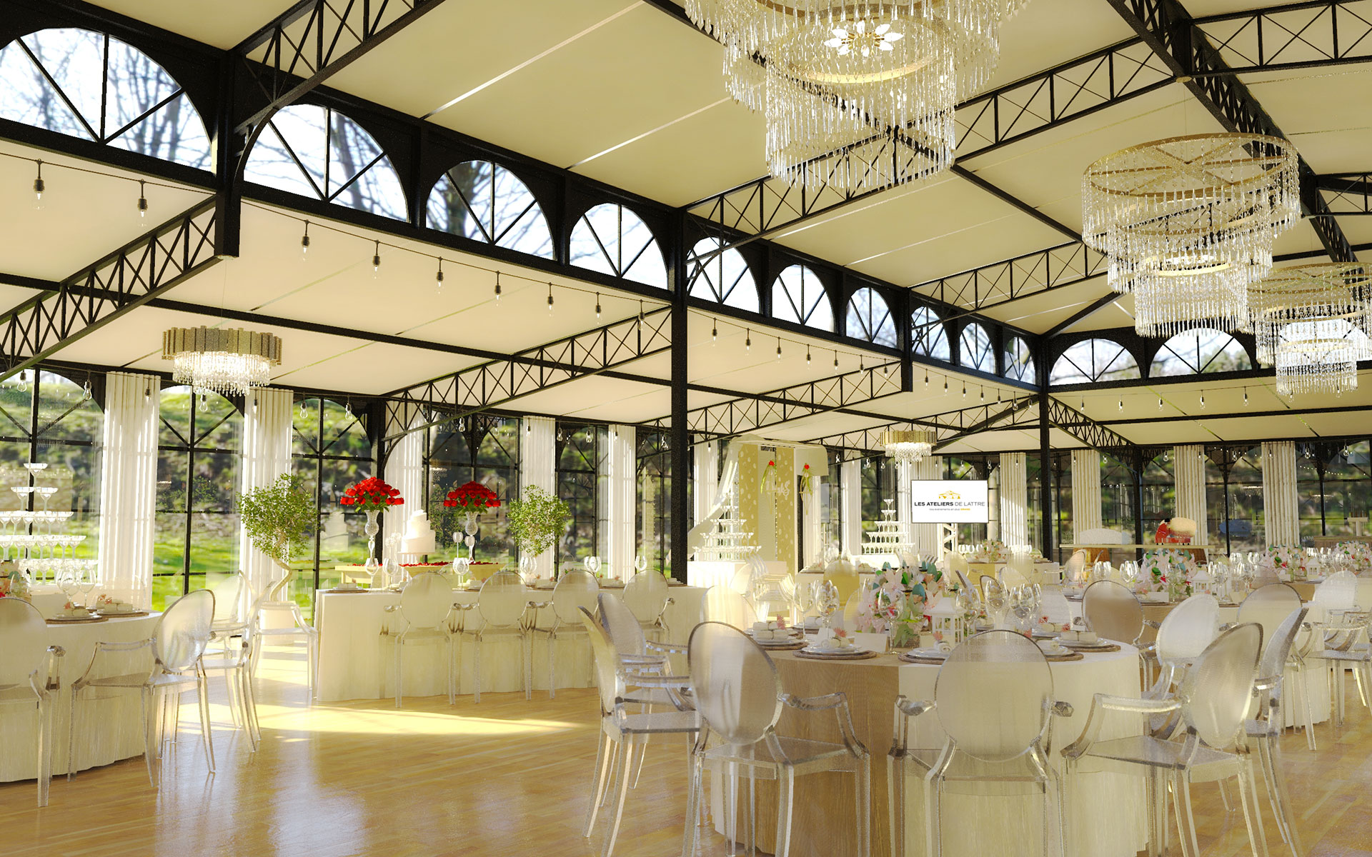 Les Ateliers de Lattre - fabricant d'orangeries éphémères haute conception